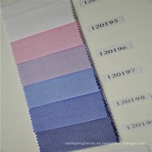 telas de color claro de la camisa de algodón, tela de la camisa de los hombres, tela de la camisa 100/2