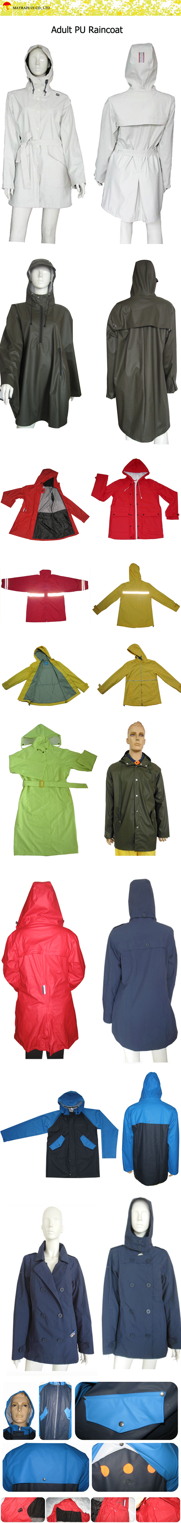 Adult PU Raincoat
