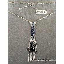 Ethnische Stoff Halskette mit Quaste