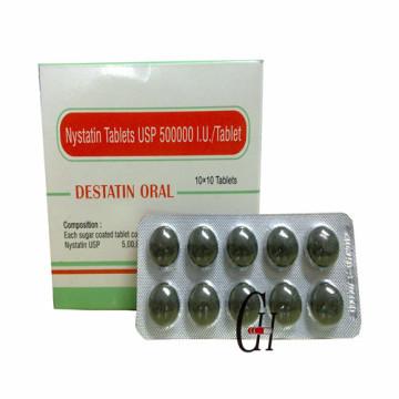 Comprimés de nystatine 500000 UI