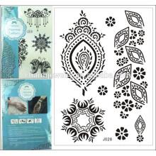 1PC Fashion marque spéciale imperméable tatouage noir Henna mehndi dentelle style d'été j028