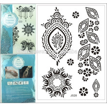 1PC Fashion special mark Waterproof Tattoo Black Henna mehndi Lace summer style j028