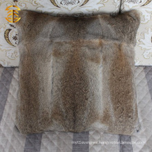 Customized Genuine Rabbit Fur Sofa Bed Car Cushion Fur Pillow Cover