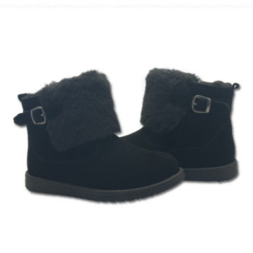 Women winter warm snow leather ankle fur boots