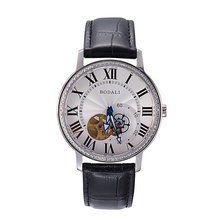 Man's Fashion Mechanical White Dial Wrist Watch