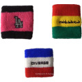 Broderie coton Spandex Terry Sweat Sport Wristband