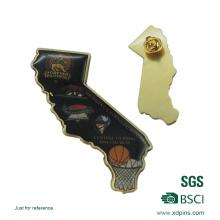Customized Metal Brass Printing Football Logo Pin Badge (xd-9041)