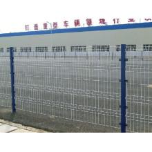 Barrière de treillis soudée enduite de poudre de PVC avec le poteau formé par pêche