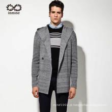 Casacos de lã acrílico Men casaco com capuz casaco
