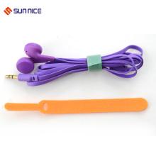 Organizador de cabos de gancho e loop colorido personalizado