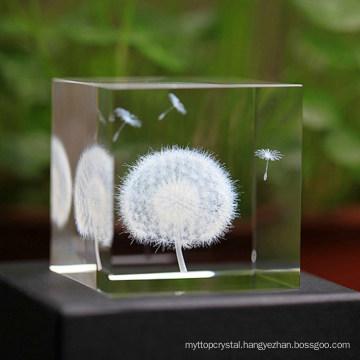 gift souvenir crystal customized 3D Laser engrave