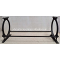 Cast Iron Classic Vintage Design Table Leg with Bars Bolts
