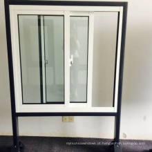 Janela de liga de alumínio com revestimento térmico revestido em pó com trava de trava, janela de deslizamento de alumínio