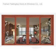 Ventanas con marco de metal residencial con doble vidrio (FT-W126)