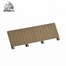 Cooler to the touch lockdry aluminum material decking
