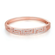 Bracelet tchèque Rose Gold Bangle Women Gold Bangle