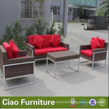 Aluminum Outdoor Rattan Furniture Sofa with Coffee Table (935)