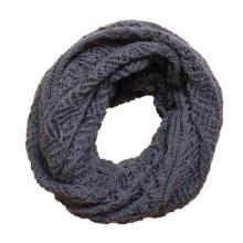 Motif de torsion des femmes tricoté hiver cercle boucle écharpe snood (SK104)