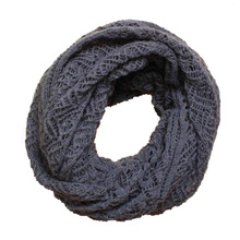 Womens Twist Pattern Knitted Winter Circle Loop Scarf Snood (SK104)