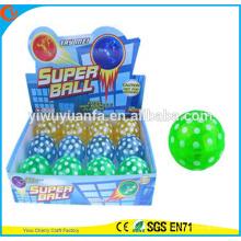 Novelty Design Christmas'gift LED Rubber 75mm Flashing Dot Printed Air Bouncy Ball