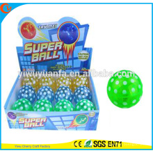 Design de novidades Christmas'gift LED Borracha 75mm Piscando Dot Printed Air Bouncy Ball
