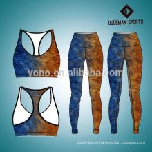 Impresión cómoda ropa de yoga colorido para damas