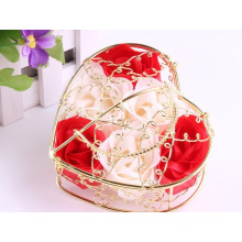 Wedding Gifts Favor Rose Soap with Iron Basket