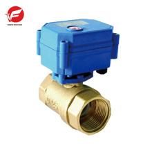 CWX-15q vanne de commande de débit hydraulique électrique à bille motorisée