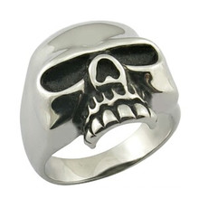 Joyería pura del anillo de la cabeza del cráneo del metal
