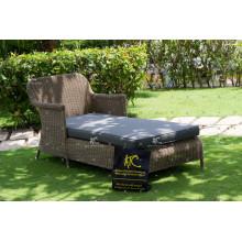 Royal Regal Design Synthetik Poly Rattan Tagesbett oder Liege Für Outdoor Garten Patio Wicker Möbel