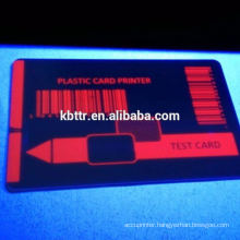 Fluorescent blue uv ribbon zebra card printer uv ribbon