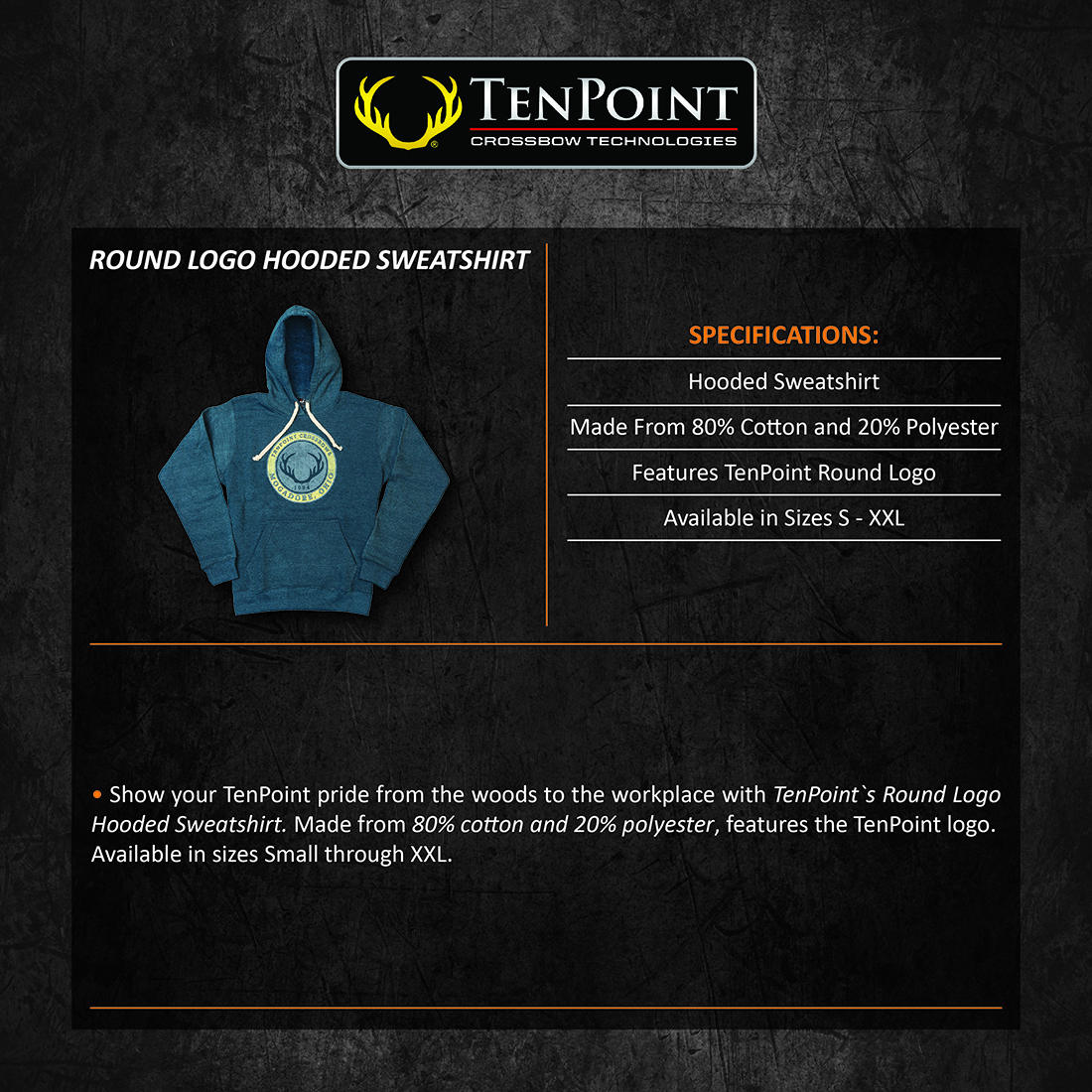TenPoint_Round_Logo_Hooded_Sweatshirt_Product_Description