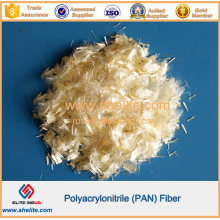 Fibre de fibre de carton polyacrylonitrile en béton
