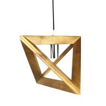 Classic Nordic design Living Room Triangle Art decorative Solid Wood LED Pendant Lamp