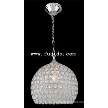Lampe pendentif ronde en cristal / éclairage pendentif en cristal