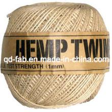 Ficelle de couleur naturelle de chanvre pour l'artisanat et la fabrication de bijoux (HT-1mm)