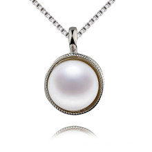 Simple Design Wholesale Price White Pearl Pendant