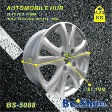 Auto Wheel Hub Rim with Silver Surface