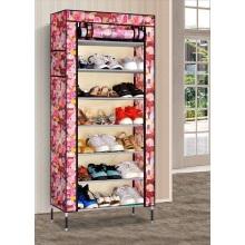 Cabinet d'organisateur de stockage de chaussure de présentoir d'étagère de 6 cubes