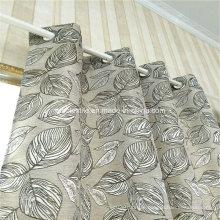 Typcial Circle Design Linen Similar 100% Polyester Curtain