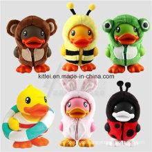 PU Foam Stress Lovely Plush Duck Niños Juguetes de patio de recreo interior