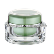 Frasco de creme cosmético vazio oval