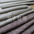 Polyester Linen Bonded Sofa Fabric with T/C Back