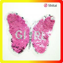 OEM for Applique Sequin Patches Colorful butterfly reversible patches supply to United States Exporter