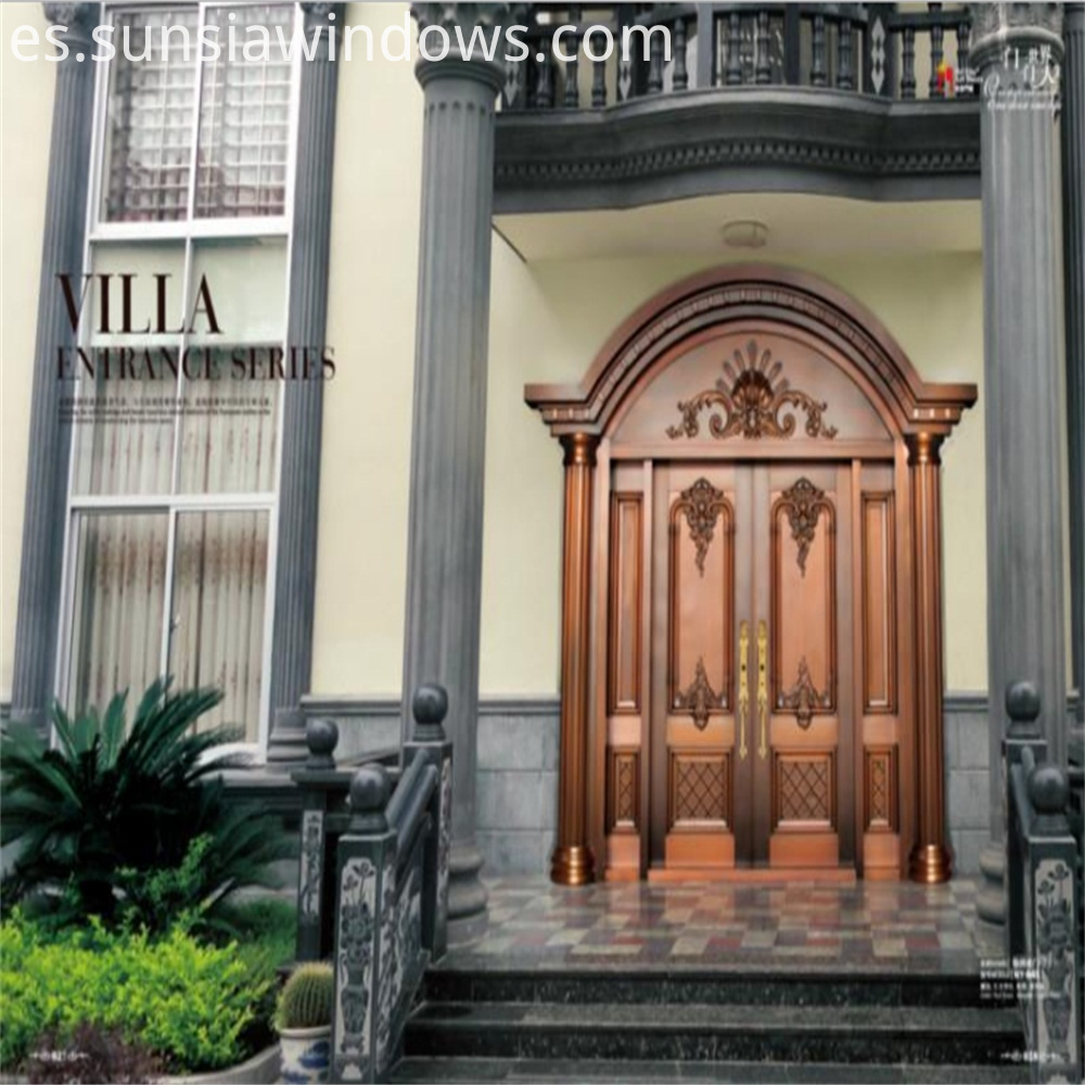 Villa Entrance Series Brass Door