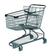 Wholesale Heavy Duty Rolling Shopping Trolley Cart with Child Seat