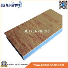 Martial Arts Jigsaw Mag en color de grano de madera, Madera Grain EVA Interlocking Mat