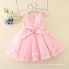 vestido de boda rosado de alta calidad de los bebés for3-12years viejo