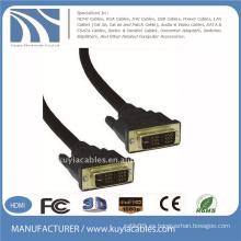 Cable DVI 18 + 1 negro plateado oro DVI a DVI PARA MONITOR DELL SAMSUNG