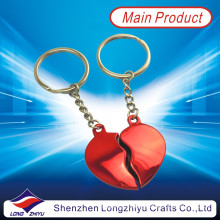 Metal Commemorative Red Heart Keychain Lovers Promotion Keychain (LZY800025)